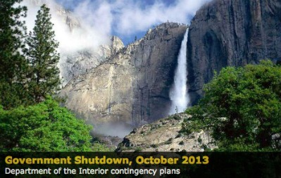 Yosemite is closed, government shutdown